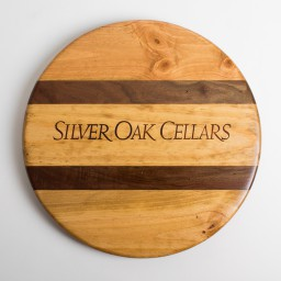 "Lazy Susan, 16"", SILVER OAK, Walnut Inlay, Golden Oak"
