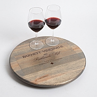 Barnett Vineyards Crate Lazy Susan, Weathered Gray