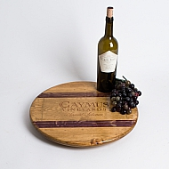 Caymus Crate Lazy Susan Wine Barrel Inlay
