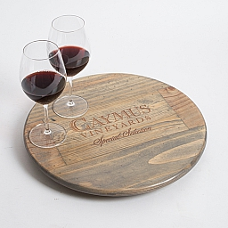 "Lazy Susan, 16"", CAYMUS, Weathered Gray, California"