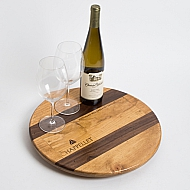 Chappellet Crate Lazy Susan with Walnut Inlay
