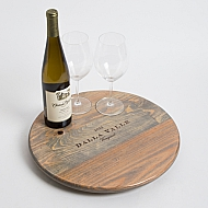 Dalla Valle Vineyards Crate Lazy Susan, Weathered Gray