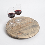 Duckhorn Vineyards Wine Crate Lazy Susan, Weathered Gray