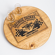 George Dickel Whisky Crate Lazy Susan