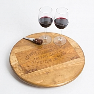 Grand Vin De Leoville Crate Lazy Susan