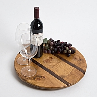 Grgich Hills Crate Lazy Susan with Walnut Inlay