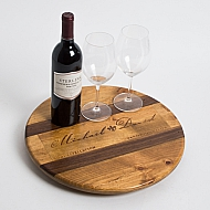 Michael David Crate Lazy Susan with Walnut Inlay