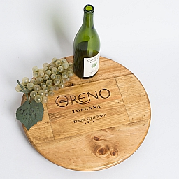 "Lazy Susan, 16"", ORENO, Golden"