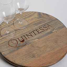 "Lazy Susan, 16"", QUINTESSA, Weathered Gray"