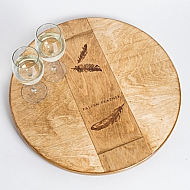 Fallen Feather Crate Lazy Susan