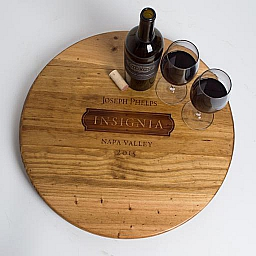 "Lazy Susan, 20"", JOSEPH PHELPS INSIGNIA, Golden Oak, Napa"