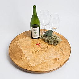 "Lazy Susan, 20"", PETER MICHAEL, Golden Oak"
