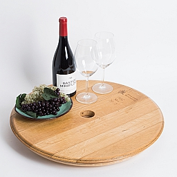 "Umbrella Lazy Susan, 22"", COOPERAGE STAMP, Natural"