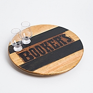 Booker's Crate Lazy Susan with Bourbon Barrel Inlay