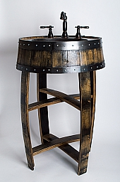 Bourbon Barrel Mirror
