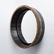 Inverted Bourbon Barrel Mirror