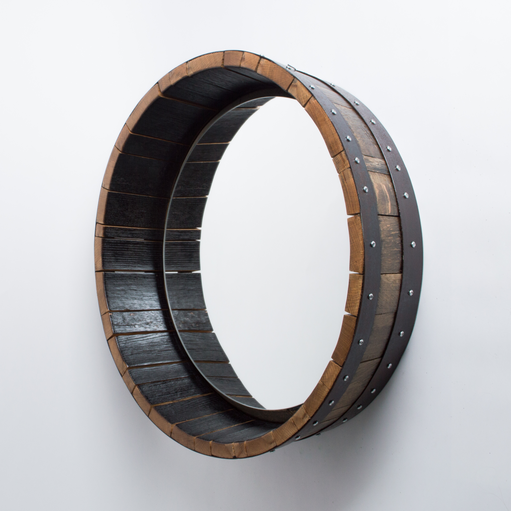 Bourbon Barrel Mirror, Inverted