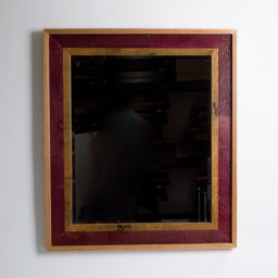 Napa Valley Wine Barrel Mirror -Rectangular with Wine Inlay