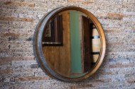 Napa Valley Wine Barrel Mirror