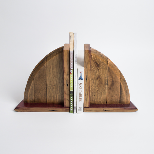 Wine Barrel Bookends