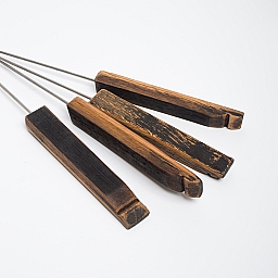 Bourbon Barrel Marshmallow Roasting Sticks, Set of 4