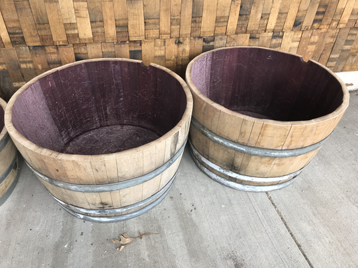 Half Barrel Planter, Natural