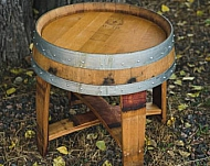 Outdoor Wine Barrel Side Table