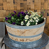 Short Barrel Planter