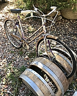 Wine Barrel Bike Rack