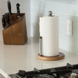 Paper Towel Holder, Modern Industrial with Support