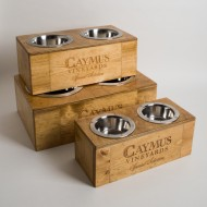 Caymus Wine Crate Pet Feeders