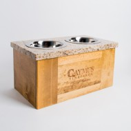 Caymus Crate Granite Dog Feeder