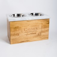 Caymus Crate Marble Dog Feeder
