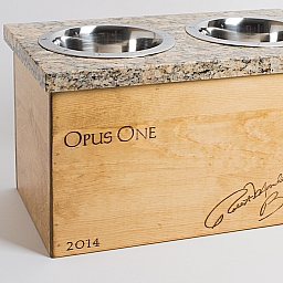 Pet Feeder, OPUS, Granite Top, Golden Oak, Large
