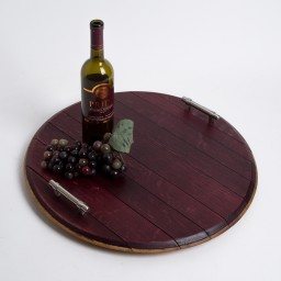 Platter, Wine Infused, Modern Nickel Handles