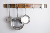 Banded Barrel Stave Pot Rack