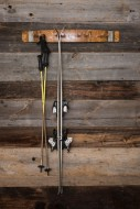 Wine Barrel Ski Rack