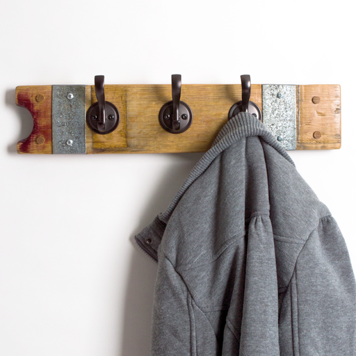 Small Round Oil Rubbed Bronze Coat Rack with Bands