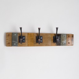 Small Square Oil Rubbed Bronze Coat Rack with Bands