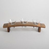 Wine Barrel Serving Dish Set