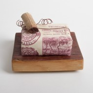 Wine Barrel Soap Dish with Handmade Goats Milk Soap