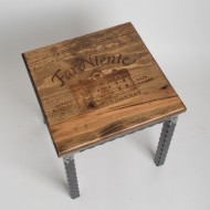 Far Niente Crate Step Stool Metal Base