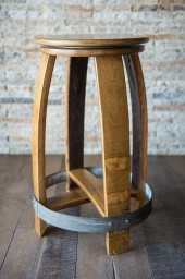 "Swivel Barrel Counter Stool, 24"", Natural"