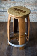 Crate Top Barrel Counter Stool with Swivel Seat