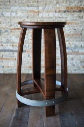"Swivel Barrel Counter Stool, 24"", Red Mahogany"