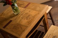 Wine Crate Tasting Table