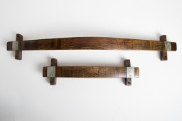 Towel Rack -Banded, Large, Dark Walnut Stain