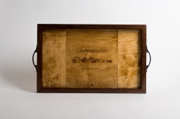 Tray, CAKEBREAD CELLARS, Golden Oak, Image, Walnut Sides, California