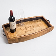 Caymus Crate Tray with Barrel Stave Sides