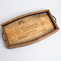 Tray, CAYMUS, Stave Edge, Golden Oak